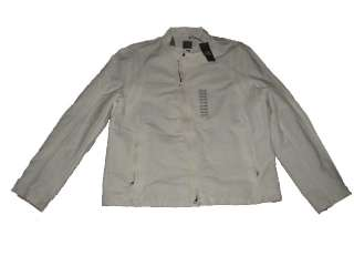 145 NWT ARMANI EXCHANGE A/X MENS WHITE ZIP FALL WINTER JACKET COAT