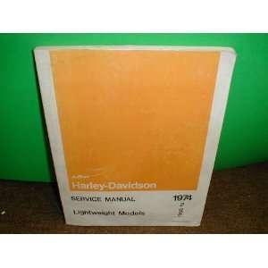 1974 Lightweight ModelsService Manual AMF Harley Davidson Books