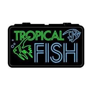 Backlit Lighted Sign   Tropical Fish Home Improvement
