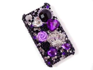 Juicy Couture Inspired IPhone 4 4G 4GS Crown Rhinestone Bling Case