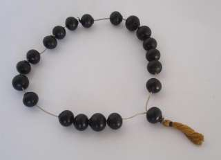 19C. ANTIQUE MUSLIM ISLAMIC ORIGINAL HOLLYWOOD PRAYER BEADS ROSARY
