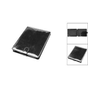 Top Flip Flap Faux Leather Black PC Case for Apple iPad Electronics