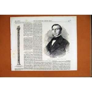 Baton Lord Raglan Portrait Drouyn De Lhuys Print 1855
