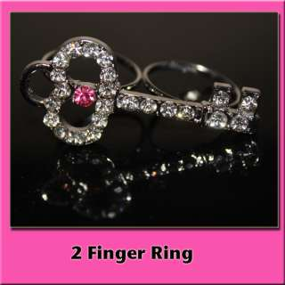 XL JUICY CUTE CRYSTAL DOUBLE 2 TWO FINGER KEY RING♡♡