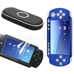 Blue Skin Case+ Black Bag+ Screen Protector For Sony PSP 3000
