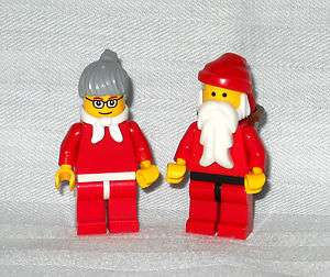 LEGO MR & MRS CLAUS MINIFIGURES, SANTA & WIFE, NEW