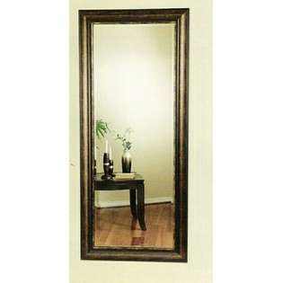 Coaster Black and silver finish leaning / wall mirror