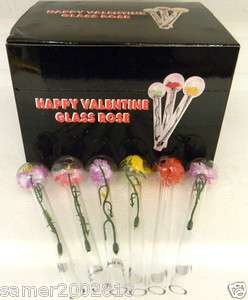 HAPPY VALENTINE GLASS ROSE LOVE BUBBLE ROSE TUBE/NEW