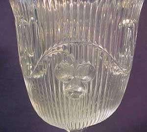 Flint Bellflower Early Amer. Pattern Glass Spoon Holder