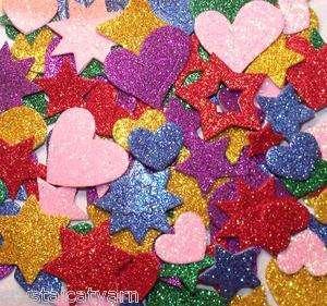 NEW GLITTER FOAM STICKER LOTS Princess Letter Number Bug Flower Heart