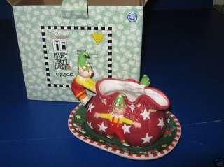 MARY ENGELBREIT MAGIC OF CHRISTMAS GRAVY BOAT SAUCER 2p