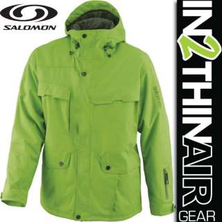 MENS SALOMON GANGSTER SNOWBOARD/SKI JACKET NEO GREEN/ L XL