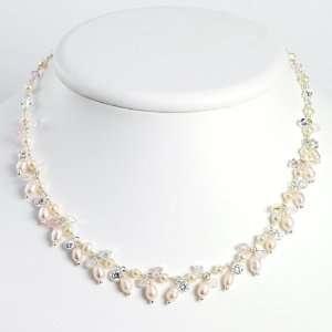 Sterling Silver White & Rose Pearl/CZ/Opalite & Aurora