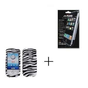 Black+Whie Zebra Premium Designer Hard Proecor Case + PREMIUM LCD