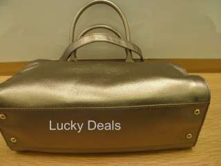 New MICHAEL KORS HAMILTON CHAIN BAG LOCK leather E/W TOTE HANDBAG