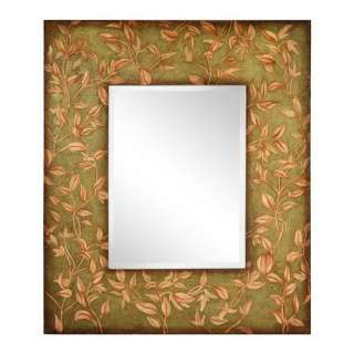 Cooper Classics Adair Wall Mirror in Distressed Aged Moss Decor