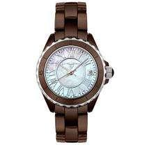 Swiss Legend Womens Karamica Brown Ceramic Watch