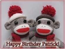 SOCK MONKEY Edible CAKE Icing Image custom birthday