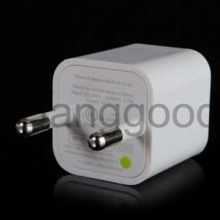 USB EU AC Wall Charger Adapter For iPod iPhone 4 3GS 3G