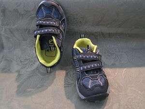 Toddler Boys Stride Rite Jetstream H&L Navy Grey Sneakers Athletic