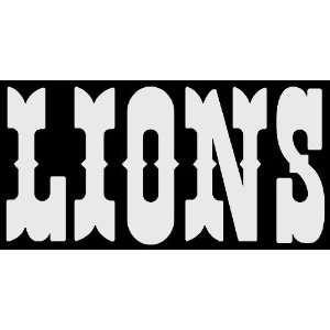 Detriot Lions Car Window DECAL Wall Sticker Text Logo