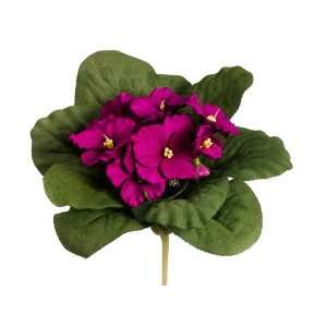 Faux 6.5 African Violet Bush Violet (Pack of 12): Home