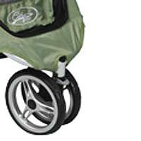 Quick release EVA wheels with front swivel and suspension