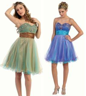 Short Strapless Cocktail Homecoming Prom Party Dress