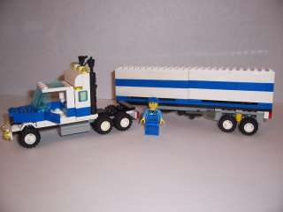 LEGO   SEMI TRUCK & New Minifig   (Blue & White #1831)