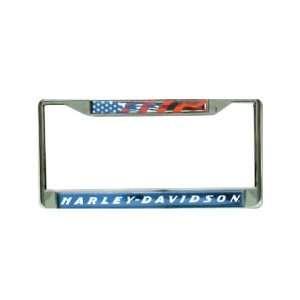 Harley Davidson   License Plate Frame American Flag by Harley Davidson