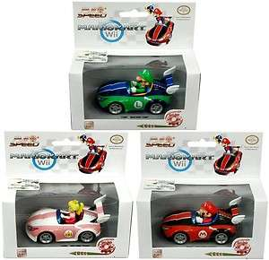 Super Mario Bros Wii Pull & Speed Karts Case Of 6