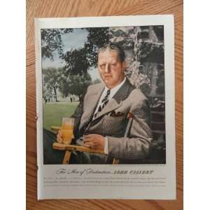 1947 Lord Calvert Whiskey(for men of distinction) magazine