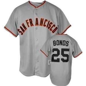 Barry Bonds Majestic MLB Road Grey Replica San Francisco