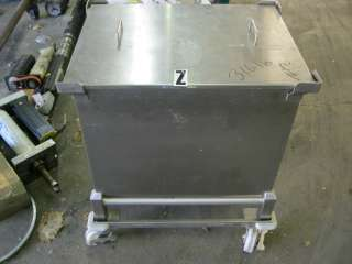 Medical Stainless Steel Drain Hopper Container w/ Output Port & Cart
