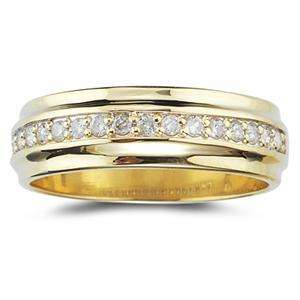 40ct Diamond Mens Wedding Band Ring 14k Yellow Gold