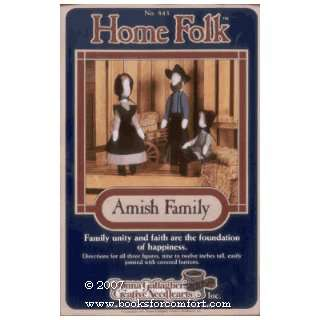 Home Folk Amish Family No 843 Soft Sculpture Dolls Donna