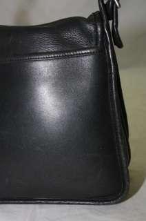 LEGACY STUDIO FLAP BLACK LEATHER SHOULDER MESSENGER BAG
