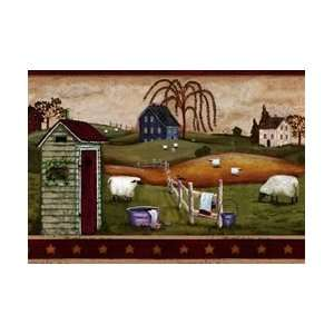 Country Bath Wallpaper Border: Home Improvement