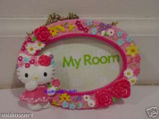 Sanrio Hello Kitty Oval Door Sign Decoration 3 Msg Pink