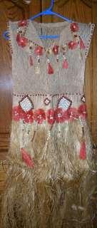 1930s Polynesian Otea Dance Costume   Museum Quality