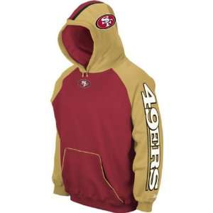 Men`s San Francisco 49ers End Zone Team Helmet Hooded