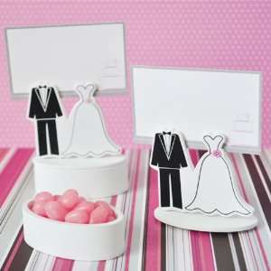 Bride Groom Place Card Favor Boxes with Designer Place Cards set of 12