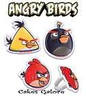 Angry Birds Black Red Yellow Cake Cupcake Ring Decoration Topper Party