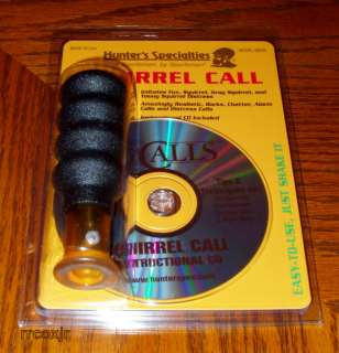 HS HUNTERS SPECIALTIES SQUIRREL CALL BARK BARKER W/CD! 021291082025
