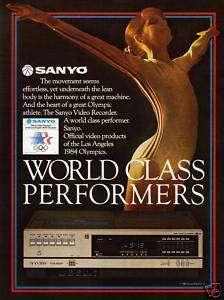 NICE 1982 SANYO VCR~1984 OLYMPICS LOS ANGELES~Print Ad
