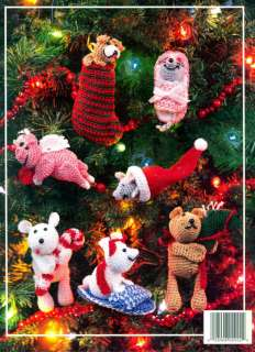 NEW Crocheted Christmas Critters Ornaments Animals Stockings