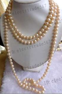 stunning 70 8 9mm Pink freshwater pearl necklace