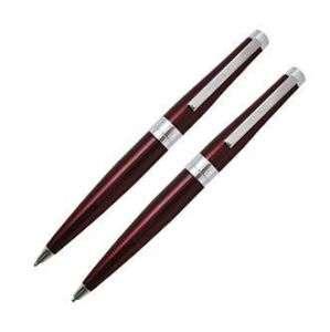 CROSS Ballpoint Pen & Pencil Set * METALLIC RED * New