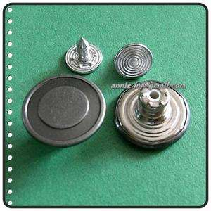 15 NO SEW Metal Brass Jeans Snaps Buttons 16.5mm G70