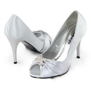 Womens rose gold satin bridesmaid wedding shoes US 6 10